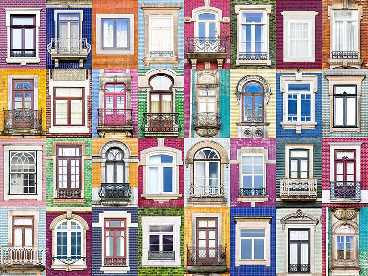 Fotógrafo faz série capturando a diversidade vibrante das janelas de Portugal