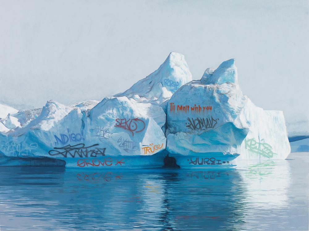 Pinturas especulativas do nosso planeta coberto de grafite