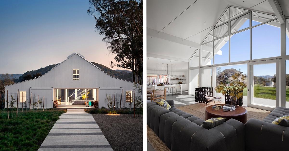 19 celeiros transformados em modernas casas de fazenda
