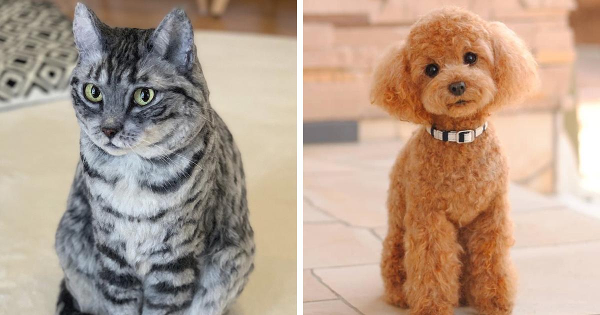 28 animais tão realistas que é difícil de acreditar que são feitos de lã