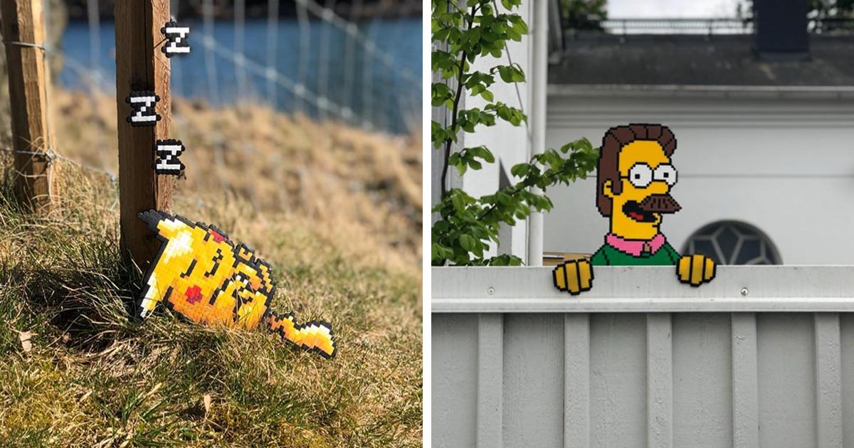 Artista sueco está enchendo as ruas com sua arte em pixels