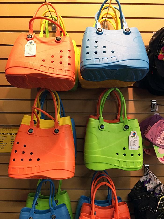 Agora os amantes de Crocs podem finalmente combinar seus acessórios com essas novas bolsas