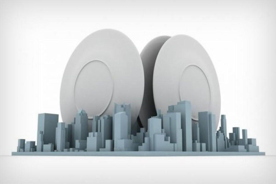 Uma destas paisagens urbanas em miniatura merece ser o escorredor de prato da sua casa