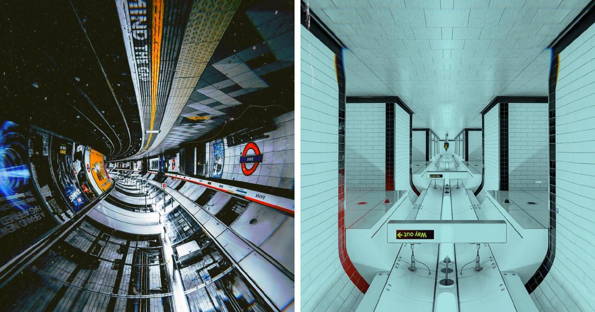 Fotografias no metrô de Londres que parecem naves espaciais