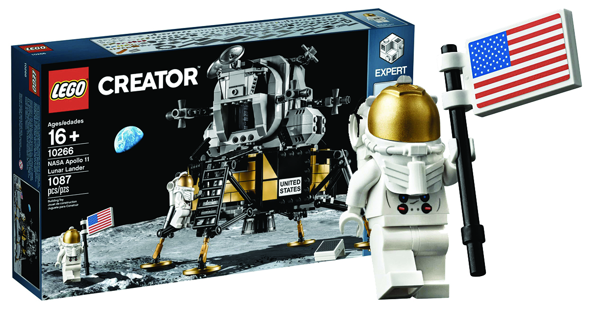 LEGO lança kit da Apollo 11 para o 50º aniversário da chegada do homem à lua