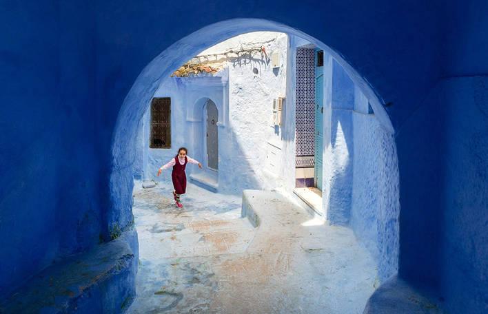 Fotógrafos capturam a maravilhosa vila conhecida como A Pérola Azul de Marrocos