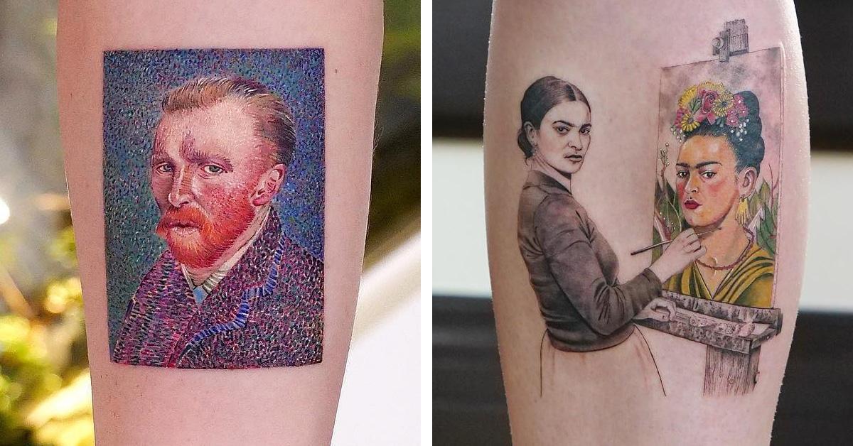 Quer gravar a história da arte na sua pele? Esse tatuador faz…