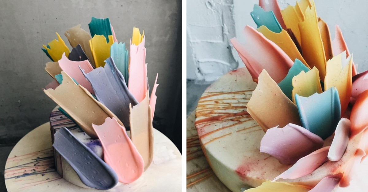 Estes bolos com pinceladas estão desafiando a decoração tradicional de bolos