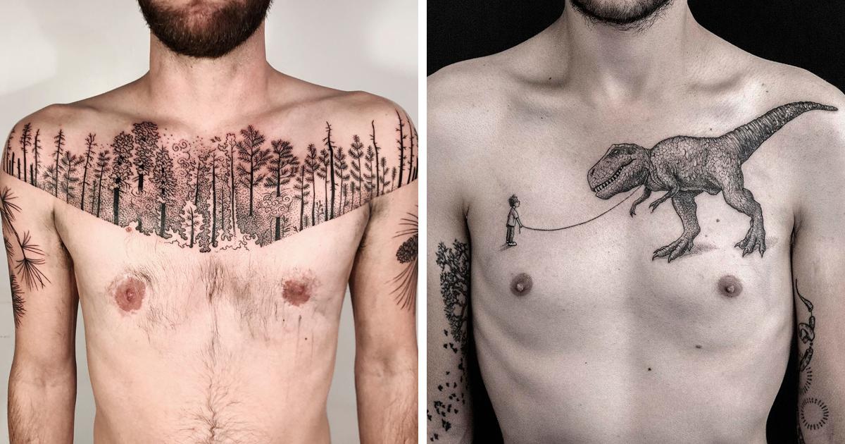 49 das mais incríveis ideias para tatuagem no peito
