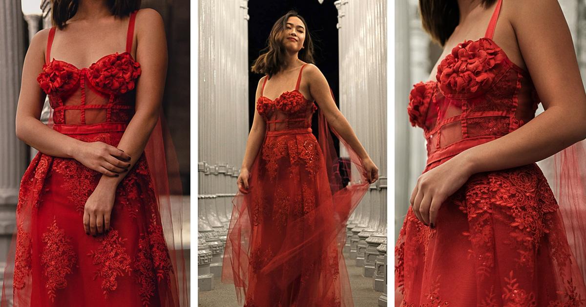 Esta garota costurou seu próprio vestido de formatura. E ficou deslumbrante!