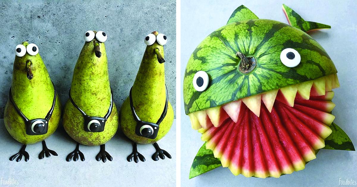 Artista de comida cria personagens que são fofos demais para se comer