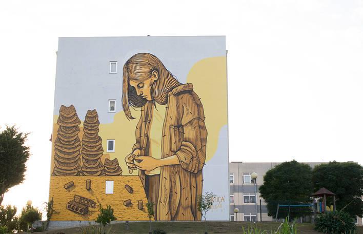 Encante-se com as obras de arte de rua maravilhosas desta artista espanhola