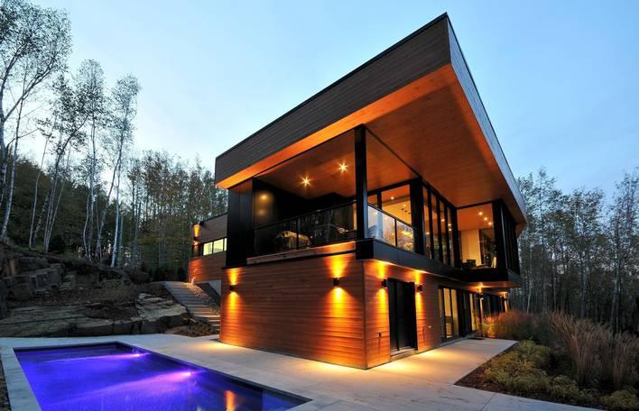 Uma residência moderna e sedutora em Québec, no Canadá