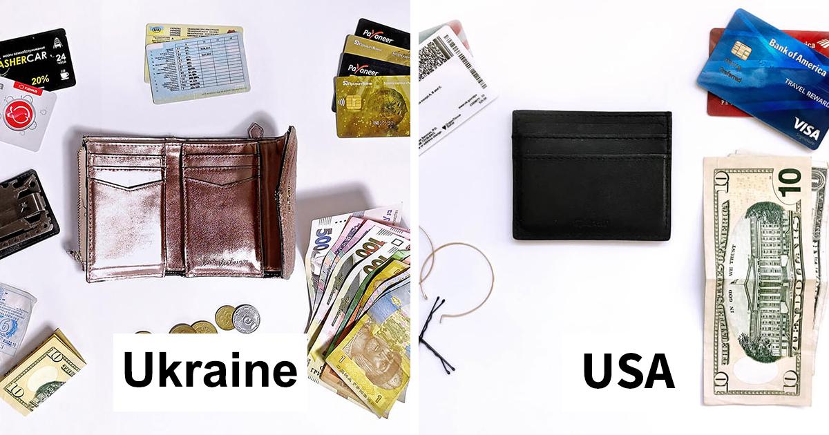 Projeto fotográfico compara 16 carteiras de diferentes pessoas ao redor do mundo
