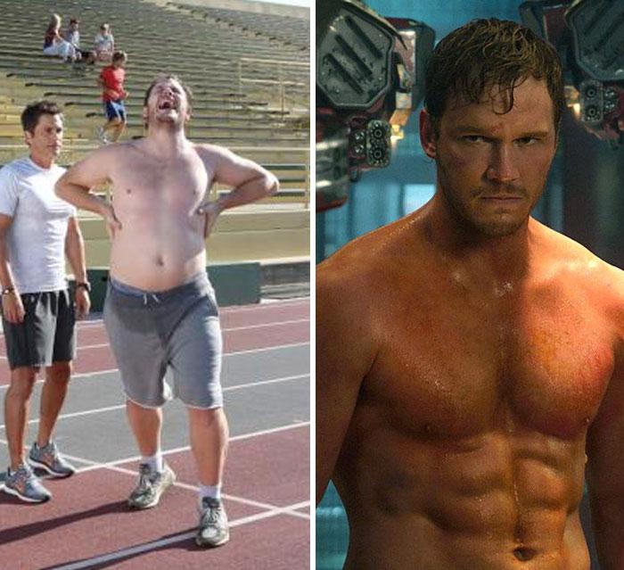 8 atores e seus corpos antes e depois de receberem a ligação da Marvel
