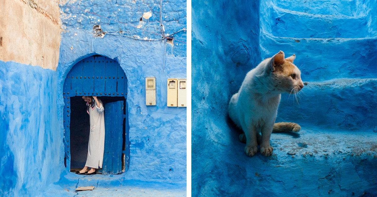 """A beleza impressionante de Chefchaouen, uma cidade montanhosa marroquina conhecida como """"Blue Pearl"""""""