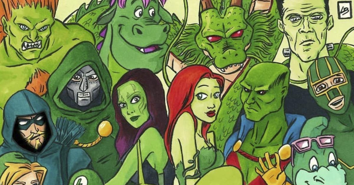 Esta diretora de arte agrupou personagens famosos por cor e aqui estão as 13 equipes