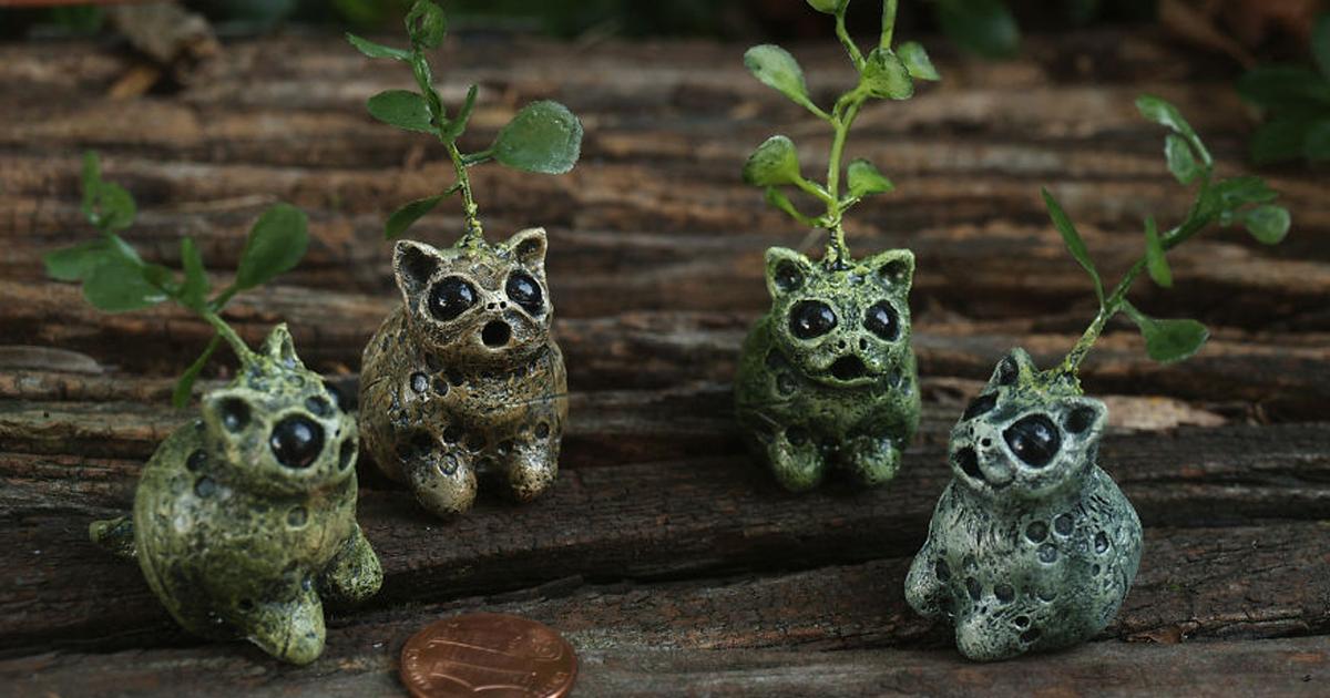 Artista esculpe criaturas de fantasia inspiradas na natureza com argila de polímero