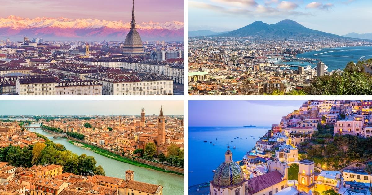 Os 10 melhores lugares para visitar na Itália (que não são Veneza, Florença ou Roma)