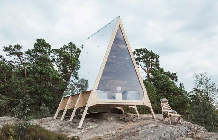 Designer finlandês projeta uma cabana minimalista ecologicamente correta