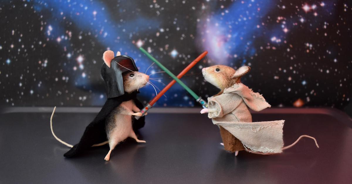 25 ratinhos de feltro adoráveis vestidos como personagens famosos