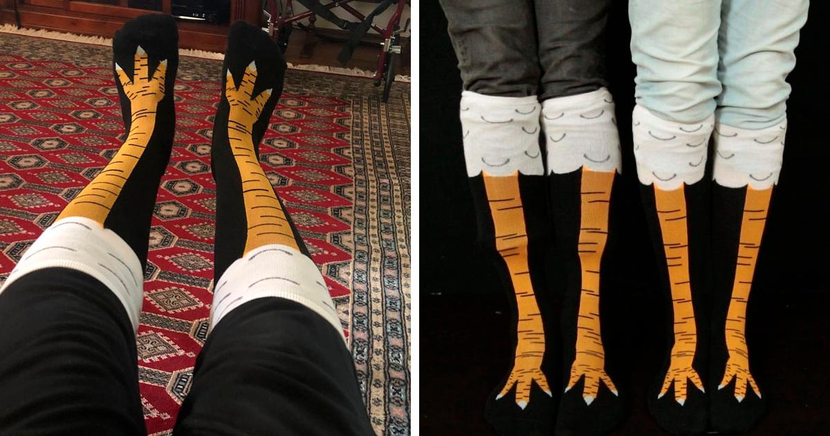 Estas meias de pernas de frango são hilárias e estão fazendo o maior sucesso
