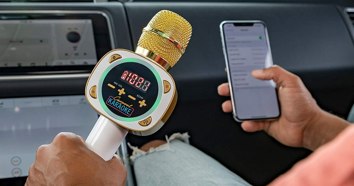 """Com o microfone """"Carpool Karaoke"""", agora suas viagens de carro não serão mais as mesmas"""