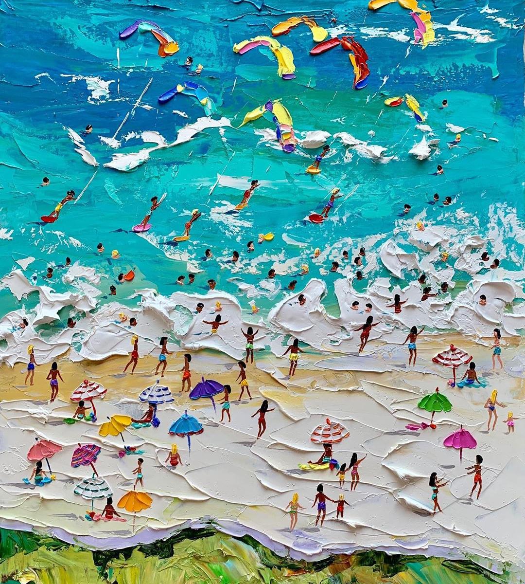 Refresque-se nas pinturas a óleo de praias no verão desta pintora da Estônia