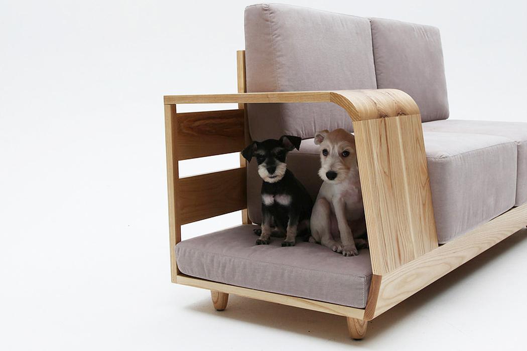 Um sofá que aceita animais de estimação feito para você e seu amigo