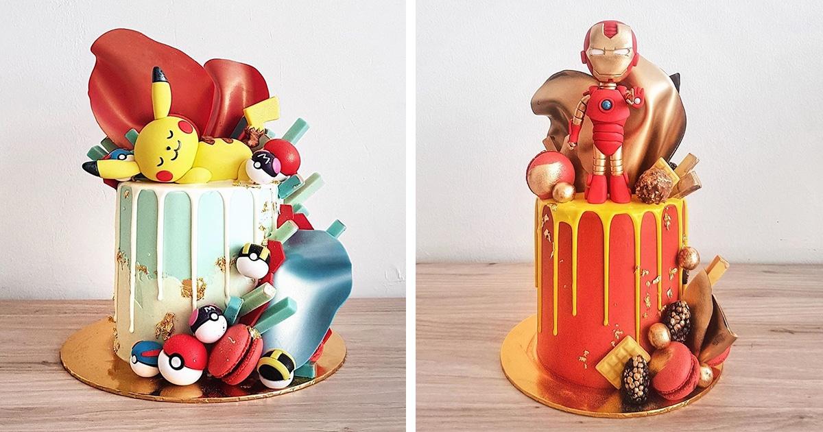 Encante-se com os bolos coloridos de personagens da cultura pop deste padeiro malaio