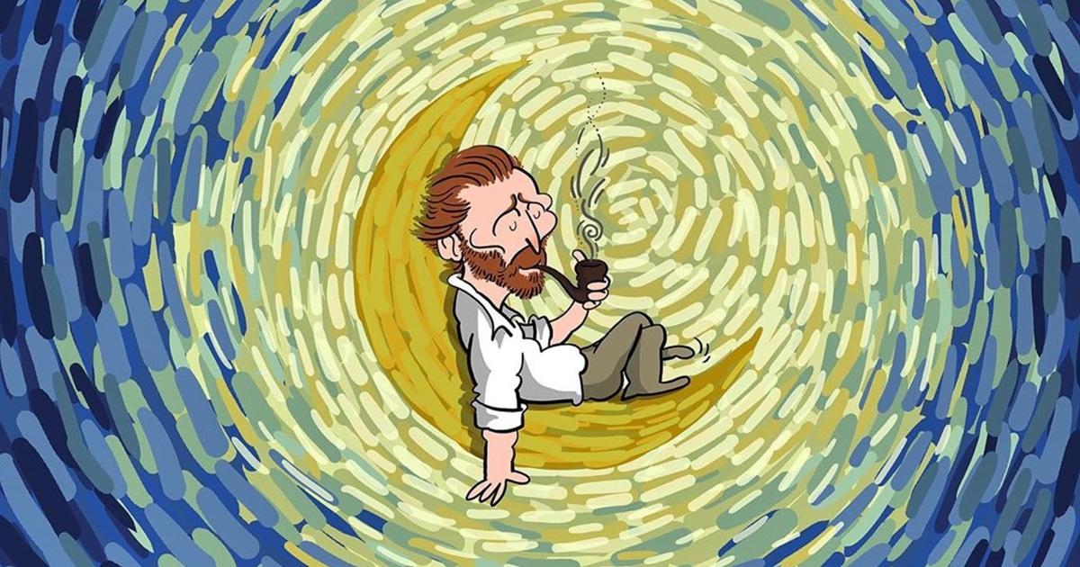 Cartunista ilustra a vida notável de Vincent van Gogh em 25 quadrinhos coloridos