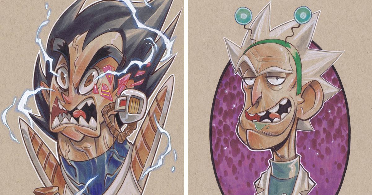 55 ilustrações de personagens da cultura pop feitos em papel kraft