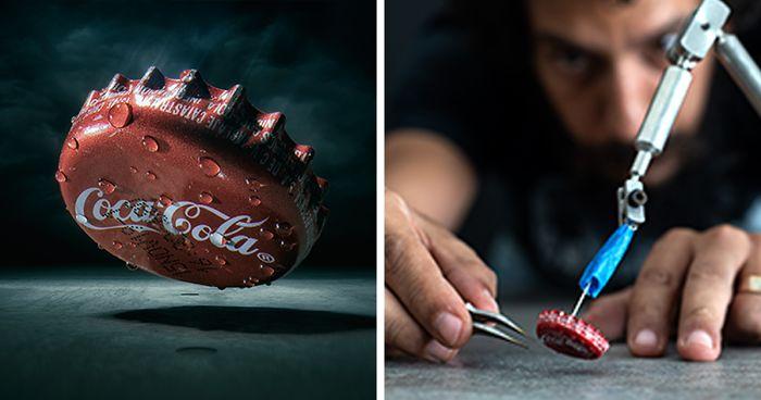 Este artista usa artesanato e fotografia para capturar mundos em miniatura
