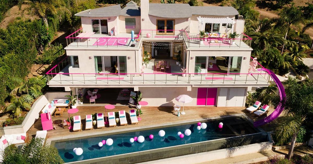Você e mais 3 amigos agora podem ficar na casa dos sonhos da Barbie na vida real