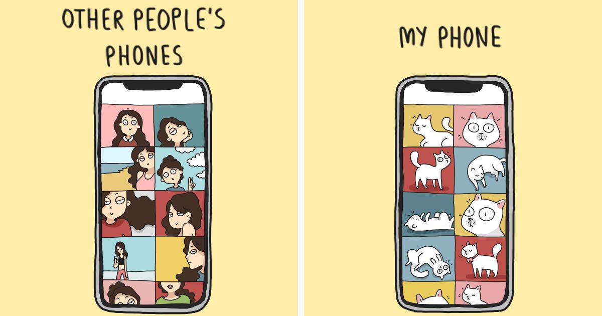 60 quadrinhos engraçados que mostram como é a vida de um dono de gato
