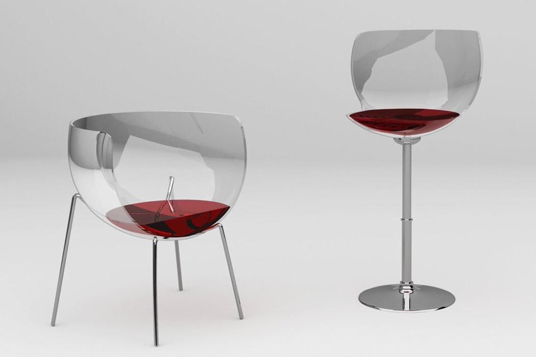 Esta cadeira de taça de vinho vai dar o que falar na sua casa