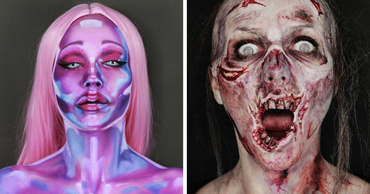 Maquiagem é o vício, o hobby e o trabalho dela, e aqui estão suas 58 maquiagens de Halloween