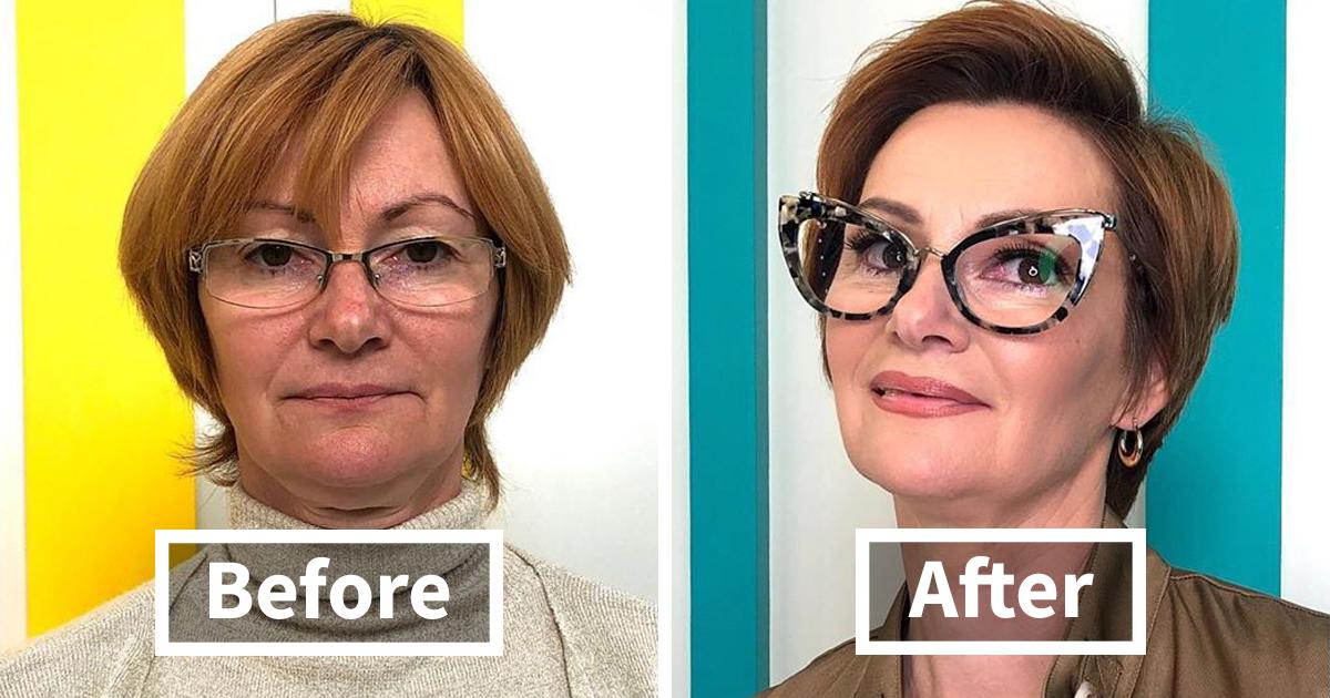 42 antes e depois de pessoas transformadas pelo estilista russo Alexandr Rogov