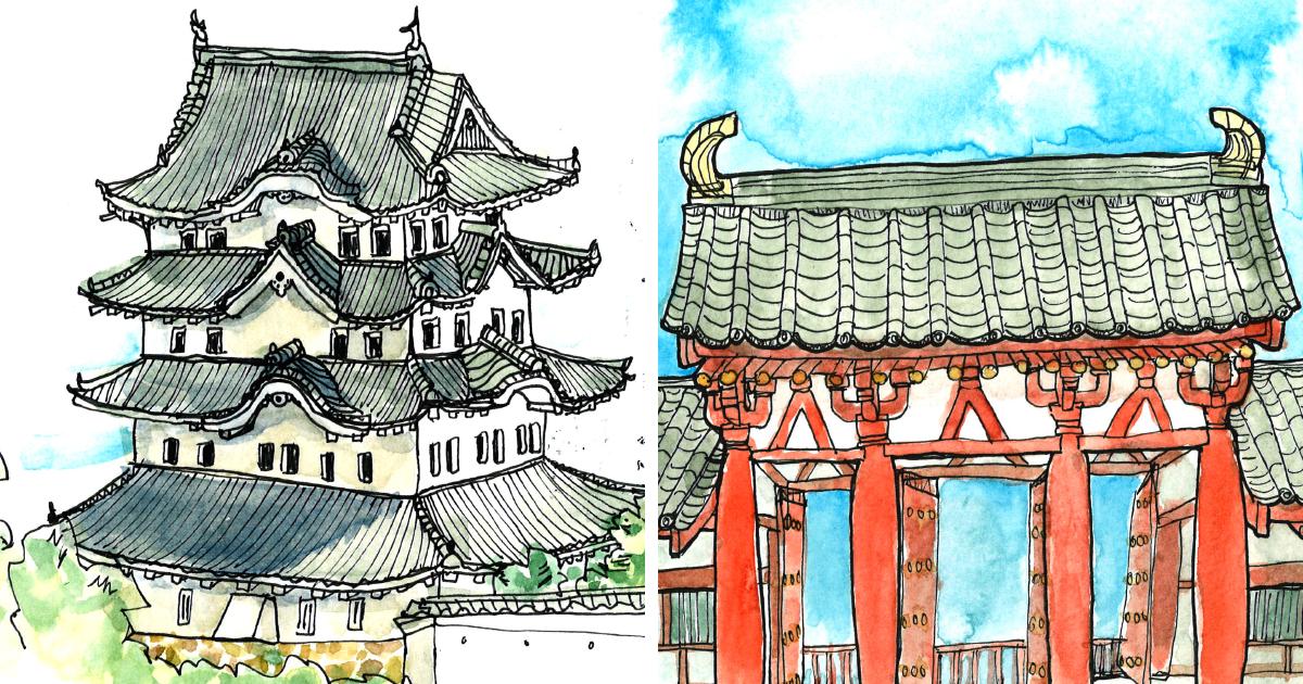 Esta arquiteta passou um tempo no Japão fazendo esboços incríveis ao longo da viagem