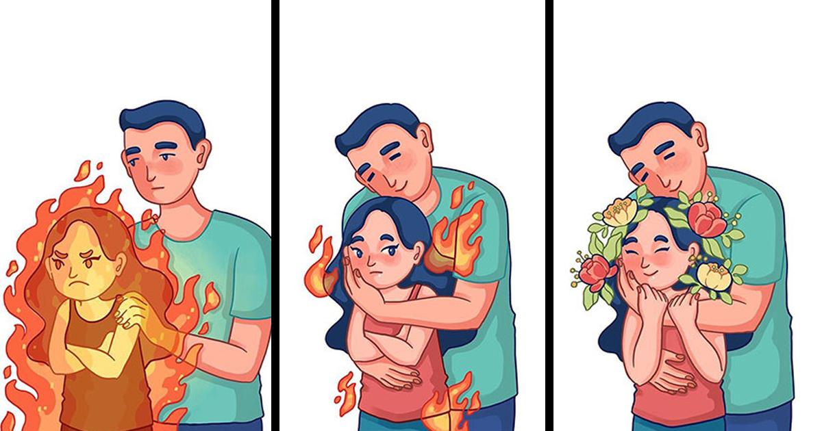 Ilustradora descreve seu relacionamento com o namorado em 31 ilustrações adoráveis