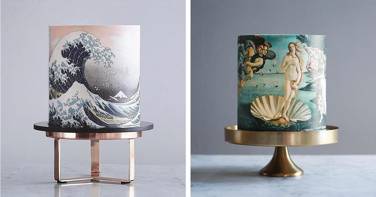 Bolos deliciosos inspirados em belas artes que parecem pertencer a um museu