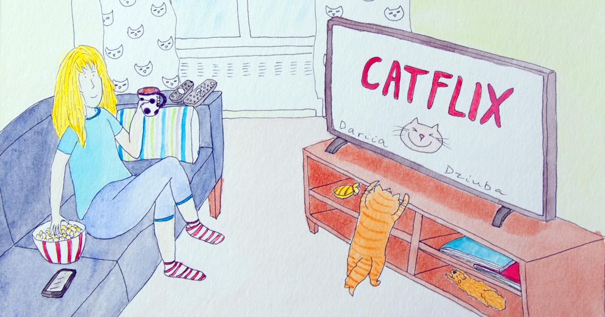 82 adoráveis ilustrações que mostram as vantagens de viver com um gato