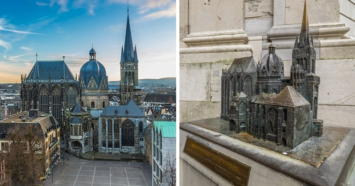 Miniaturas na frente de monumentos ajudam pessoas com deficiência visual a explorar a arquitetura
