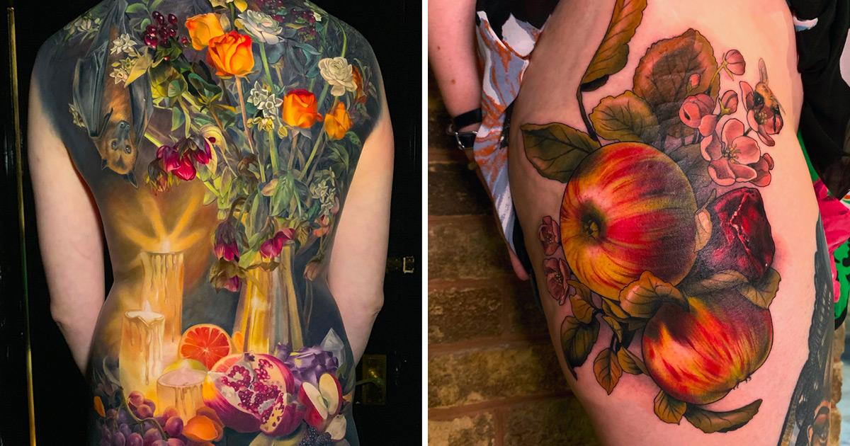 As tatuagens elaboradas com chiaroscuro desta tatuadora neozelandesa vão fazer você ficar com vontade de tatuar agora mesmo