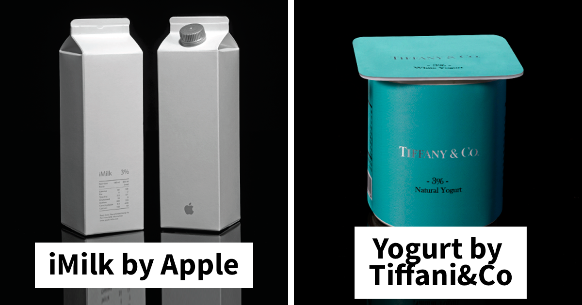 Artista recria designs de embalagens de alimentos como se tivessem sido feitos por marcas famosas