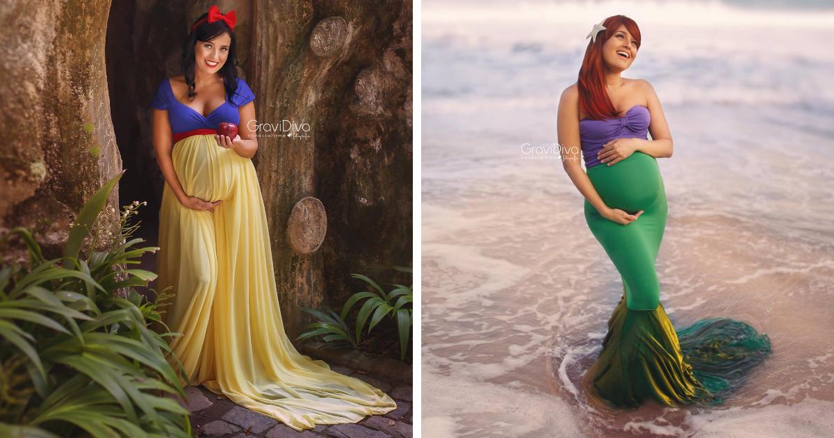 Mulheres Grávidas Como Princesas Da Disney Por Fotógrafa Brasileira