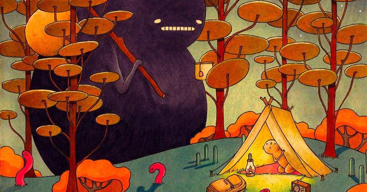 Protagonistas anônimos navegam por mundos imaginários em ilustrações multicamadas desta ilustradora