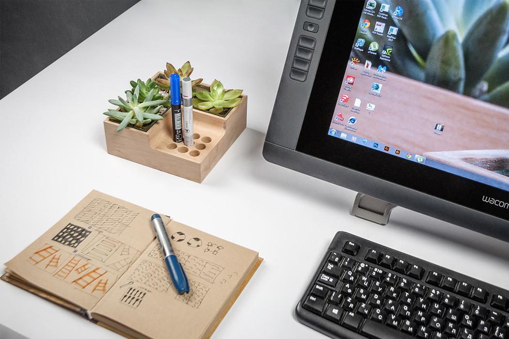 Fique Focado E Zen No Seu Agitado Espaço De Trabalho Com Este Organizador De Mesa