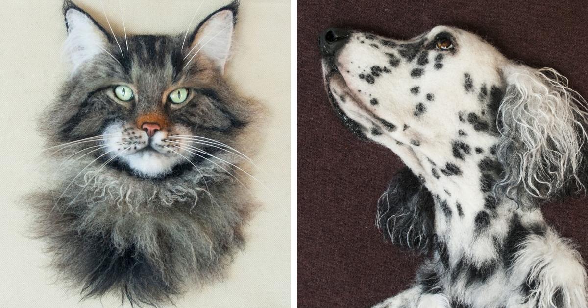 Artista Cria 32 Mini-Versões Dos Pets De Pessoas Usando Lã