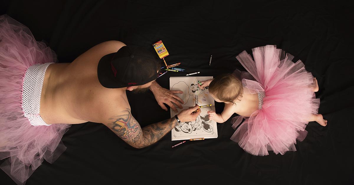Esta Sessão De Fotos Na Qual Pai E Filha Se Vestem Com Tutus Está Viralizando Na Internet